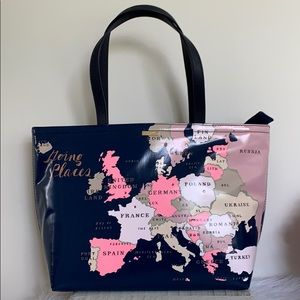 Kate spade going places map Francis tote bag